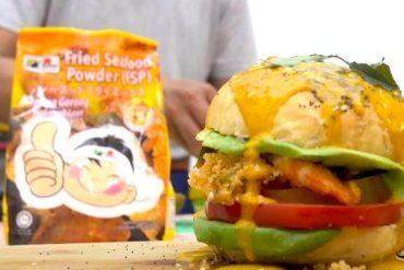 Salted Egg Prawn Crispy Burger 2 1