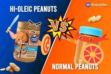 Hi Oleic peanuts vs normal peanuts